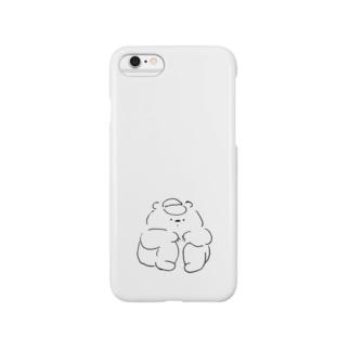 しゃがむくま Smartphone cases