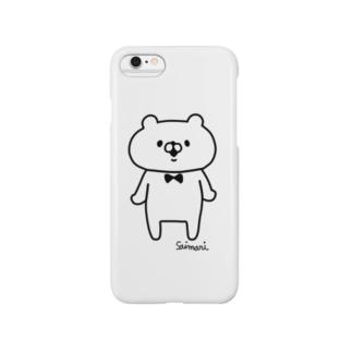 会話にクマを添えましょう スマートフォンケース
