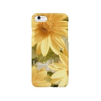 幸運の黄色い花 Smartphone cases