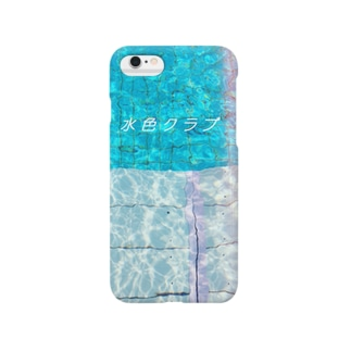 水色クラブ(iPhone6/6Plus用) Smartphone cases