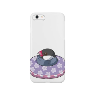 浮輪文鳥・桜 Smartphone cases
