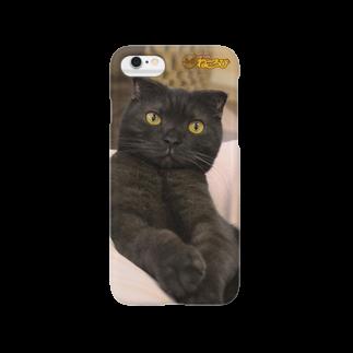 Cat Cafe ねころびのバートくんiphoneケース Smartphone cases