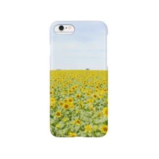 ひまわり畑 Smartphone cases