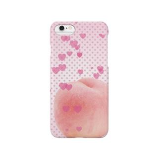 ピーチなハート Smartphone cases