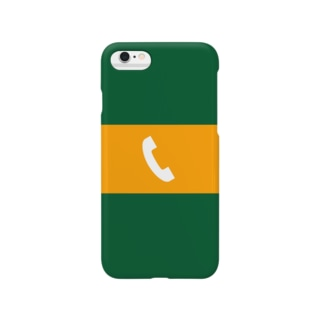 沿線電話(白-電話マーク) スマホケース Smartphone cases