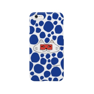 にわかニャンコblue Smartphone cases