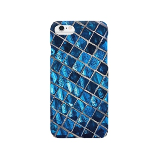 sapphire blue tile Smartphone cases