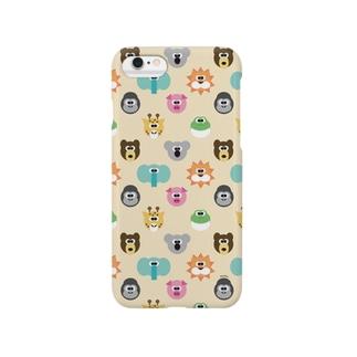 ヨリ目の動物達 Smartphone cases