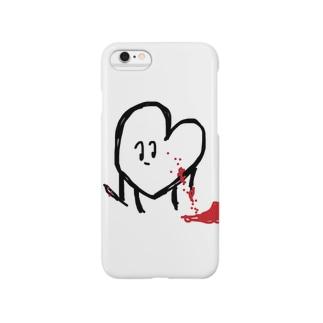 闇を抱えたハートちゃん。 Smartphone cases