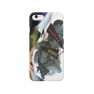 窓付きコラボTシャツ Smartphone cases