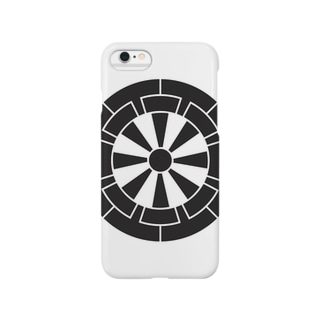 佐藤家家紋「源氏車」 Smartphone cases