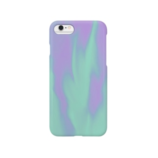 パープルマーブル Smartphone cases