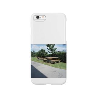 仙巌園のベンチ Smartphone cases