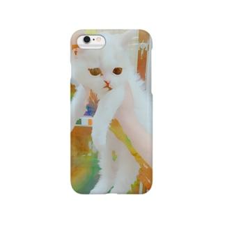 アートなネコちゃん Smartphone cases
