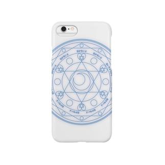 魔法陣〜青〜 Smartphone cases