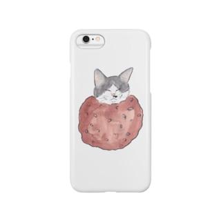 猫舌ゆみこのおはぎ猫 Smartphone cases
