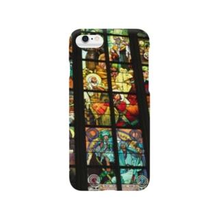 チェコの教会のステンドグラス Smartphone cases