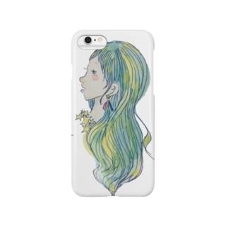 七夕 ガール。 Smartphone cases