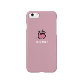 リンゴ型サリーくんケース(yello) Smartphone cases