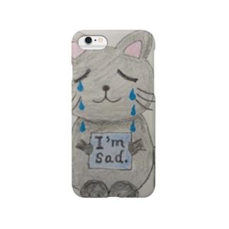 悲しみのみーにゃん Smartphone cases