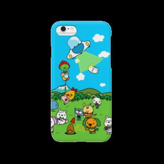 モリヤマ・サルの賑やかな草原 Smartphone cases