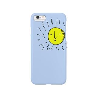 ブルーの太陽さん Smartphone cases