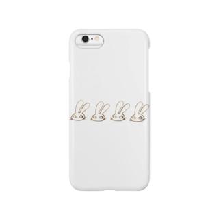 じと目うさぎ Smartphone cases