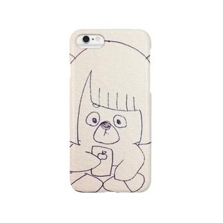 SNS中毒しゃ(顔面近い) Smartphone cases