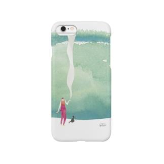 空豆と珈琲の薫り Smartphone cases