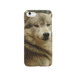 もふもふおおかみ Smartphone cases