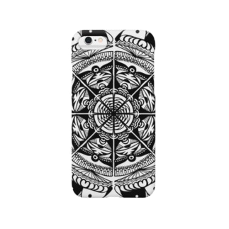 Black mandala Smartphone cases