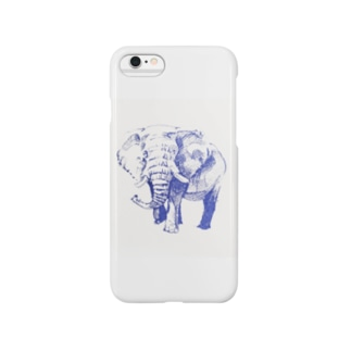 アフリカゾウ blue Smartphone cases