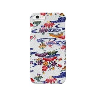 沖縄 紅型染めiPhoneケース Smartphone cases