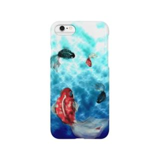 涼しい金魚の水槽 Smartphone cases
