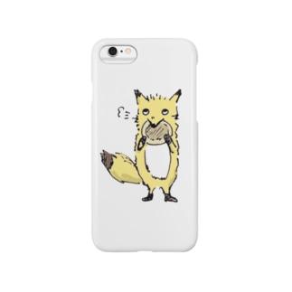 きつねさんシリーズ-パンケーキ食べる Smartphone cases