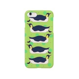 のったりコウテイさん iPhoneケース2 Smartphone cases