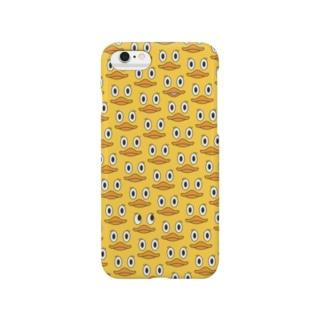 アヒルばっかり(黄身色) Smartphone cases