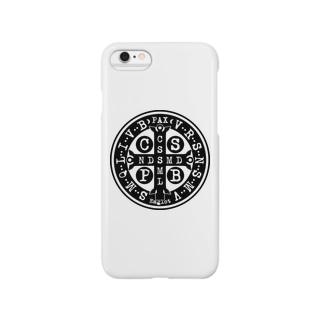 聖ベネディクトのメダイ Smartphone cases
