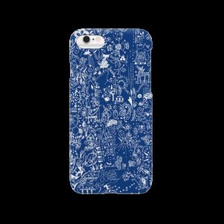 P4Uの思い巡り-Tシャツ-青スマートフォンケース