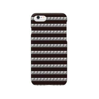 tomokomiyagamiのピラミッドスタッズ ボーダー黒 Smartphone cases
