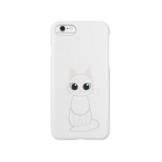 白猫 スマートフォンケース