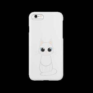 Tar-zansuの白猫スマートフォンケース