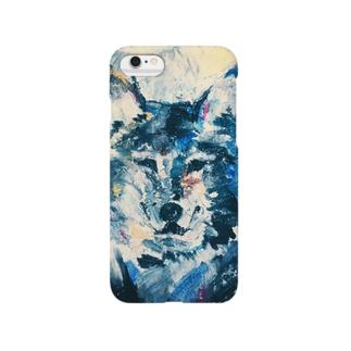 オオカミ(青魚色) スマートフォンケース