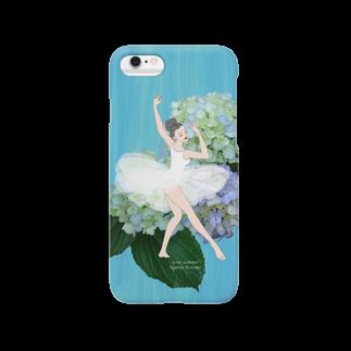 雨月 衣の2016夏・バレリーナ黒髪 Smartphone cases