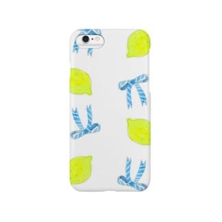 レモンとリボン Smartphone cases