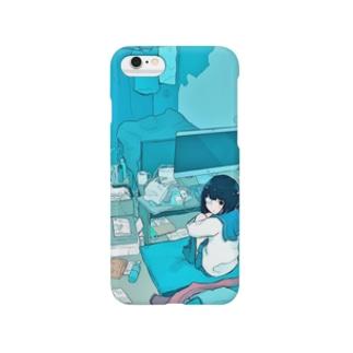 青い部屋 スマートフォンケース