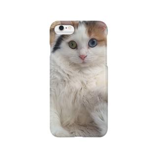 もふもふ猫 Smartphone cases