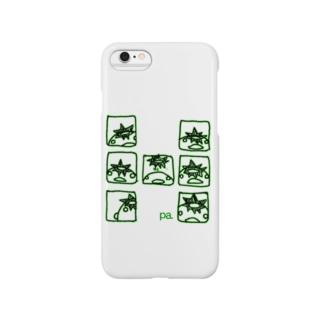 コマわりぱすけくん(グリーン) Smartphone cases