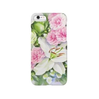バラとカサブランカ Smartphone cases