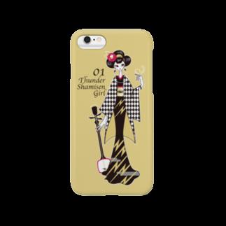 tomokomiyagamiのThunder Shamisen Girl Smartphone cases